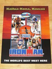 Ironman 2002 Hawaiian Poster Original - Triathlon New Rar / Vintage Mint