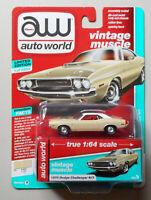 1970 Dodge Challenger R/T Cream AUTO WORLD DIE-CAST 1:64 CAR w BOX