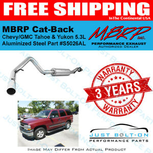 MBRP 3in Cat-Back 2000-06 Chevy/GMC Tahoe Yukon 5.3L Alum S5026AL Single SIde