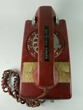 Hawks Hot Line Vintage Wall Telephone Set Red Bell System PacBell ATT