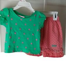 Girls Outfit Size 12 18 Months Shirt Top Shorts Naartie I Pink Cute cotton New