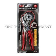 New King 6 Sizes Heavy Duty Hole Punch, Leather Paper Belt Crafts Eyelets Pliers