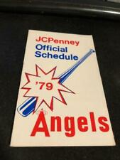 1979 California Angels Baseball Pocket Schedule JC Penney Version