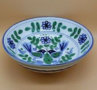 Vintage Italian Taste Setter Sigma Love Bird Ceramic Berry Strainer Bowl Italy