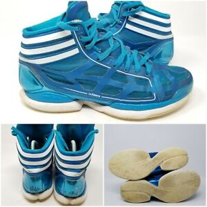 Adidas Crazylight Blue Athletic Basketball Tennis Shoes Sneaker Men's Size 9