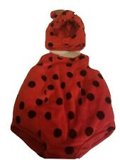 Lady bug toddlers costume, nice condition clean, pre owned, fits 0 to 6 mos.