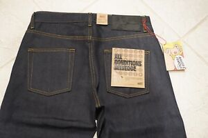 Naked and Famous, All Conditions Selvedge, Easy Guy Jeans 32x29 NWT