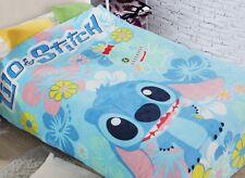 lilo&stitch stitch blue fleece Bed blanket rug blankets 200x150CM sweet gift