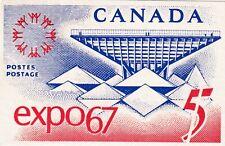 Canada 1967 EXPO 67 April 16th Postcard Edmonton Cancel VGC Flag
