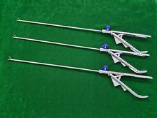 3pc Laparoscopic Ethicon Type Needle Holder Curved Jaw Right Hand 5mmx330mm