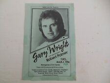 Vintage Gary Wright & Robert Palmer Concert Handbill Rock Poster Alabama