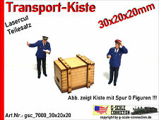 Spur 0 Lasercut 2x Transport Kiste 30x20x20mm aus Holz für z.B. Lenz Brawa MBW