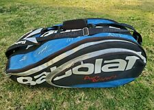 Babolat Pure Drivers Autograph Signature 12 Racket Tennis Team Bag Blue Black
