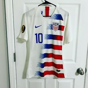 2019Gold Cup USA soccer jersey Match worn Pulisic Player issue Authentic Chelsea