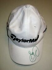 JASON DAY HAND SIGNED TAYLOR MADE WHITE GOLF CAP UNFRAMED + PHOTO PROOF C.O.A