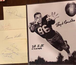 GREEN BAY PACKERS 5 Piece Vintage NFL Football  Autograph Lot VINCE LOMBARDI Era