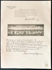 1926 - Lithographie citation M. Herbert Hoover, M. Henry C. Lodge.