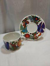 Villeroy & Boch Acapulco Squat Stacking Coffee Mugs w/plates Set of 6 EUC