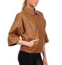 $1,350 Vivienne Westwood sz 6 Red Label Lamb Leather Kaban Jacket Women Coat NEW