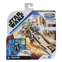 Star Wars Mission Fleet The Mandalorian & Child Speeder Bike IN HAND