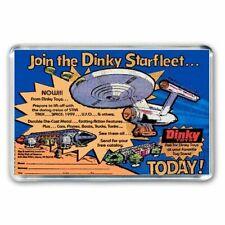 SPACE 1999 EAGLE TRANSPORTER STAR TREK  DINKY TOYS ADVERT - JUMBO FRIDGE MAGNET