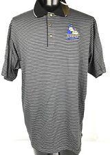 Peoria Riverman Men's Hockey 2XL Polo.  Black And Gray Striped A7