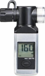 Topeak Shuttle Gauge Digital: Black/Silver Accurate Air Pressure Readings 300PSI