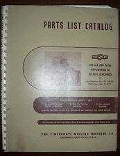 Cincinnati Parts List for 100 & 200 Series Machines