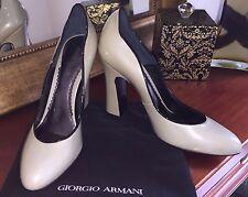Brand New Giorgio Armani Patent Leather Pump Shoes XGDB62 Size EU 38.5