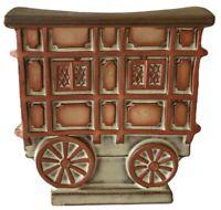 Vintage Betterware Pottery Stoneware Gypsy Reading Caravan Money Box Piggy Bank