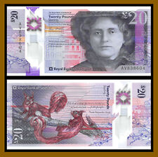 Scotland 20 Pounds, 2019 P-New The Royal Bank of Scotland Polymer Squirrels Unc
