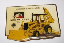 Caterpillar Cat Backhoe Tractor Loader Hat Lapel Pin New Orleans 1986 1-H Lions