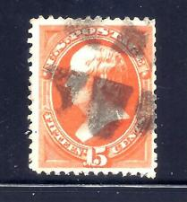 US Stamps - #163 - USED - 15 cent Webster Issue - CV $150 - fancy cancel
