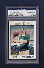 Paul Hornung signed Notre Dame football trading card Psa Authenticated