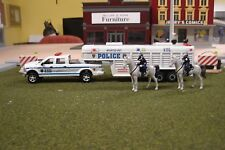 FOR CODE 3 NYPD KITBASH P/U WITH TRAILER MOUNTED UNIT WITH HORSES  1/64
