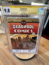 Marvel Deadpool 27 CGC SS 9.8 Detective Comics Art Adams Homage Stan Lee Variant