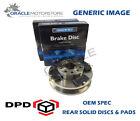OEM SPEC REAR DISCS PADS 300mm FOR AUDI A4 1.8 TURBO 160 BHP 2008-11