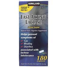 Kirkland Signature Fast Acting Lactase Enzyme Lactaid 180 Caplets