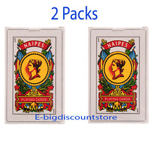 2 PKS Mexican Naipes 50 playing card plastic coated bingo poker cards game deck
