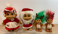"Russ Christmas Trolls Mr & Mrs Santa Claus - 9"" & 2 Reindeer 5"""