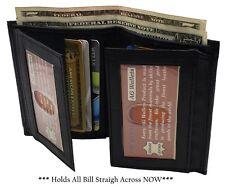 AG Wallets Mens Leather Bifold 8 Card Slots dual Flap 4 ID Windows Slim Wallet