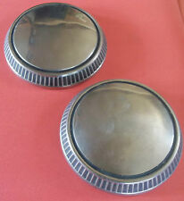 "1960's Set Of Two Wheel Center Cap's Inside Bead 9 1/4"" Outside Bead 9 5/8"" D"
