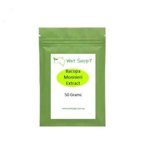 BRAHMI Bacopa Monnieri Extract 50 grams Powder  FREE POSTAGE Oz Store