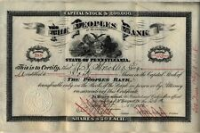 1902 The Peoples Bank of McKeesport Stock Certificate Pennsylvania