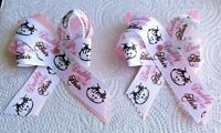 "Set of 2 ""Daddy Did My Hair"" Handmade Bows On Pk. Ribbon with  4 x 4 Bow Clips"