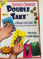 NEW Creepers & Crawlers DOUBLE TAKE Memory Card Game Match the Bug to Close Up