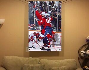 NEW HUGE 43x31 Wayne Gretzky Vinyl Banner POSTER Mario Lemieux art Canada cup !!