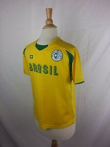 Brasil Brazil SOCCER JERSEY #4 SIMPLY FOR SPORTS YOUTH LARGE 14/16 Yellow Green