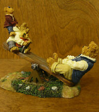 Boyds Bearstones #228484 DAD w/ TEETER, TOTTER and BOING...WORLD'S BEST DAD  2Ed