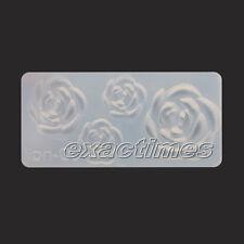 3D Acrylic Mold Rose Flower Nail Art Tips UV Gel DIY Decoration Design
